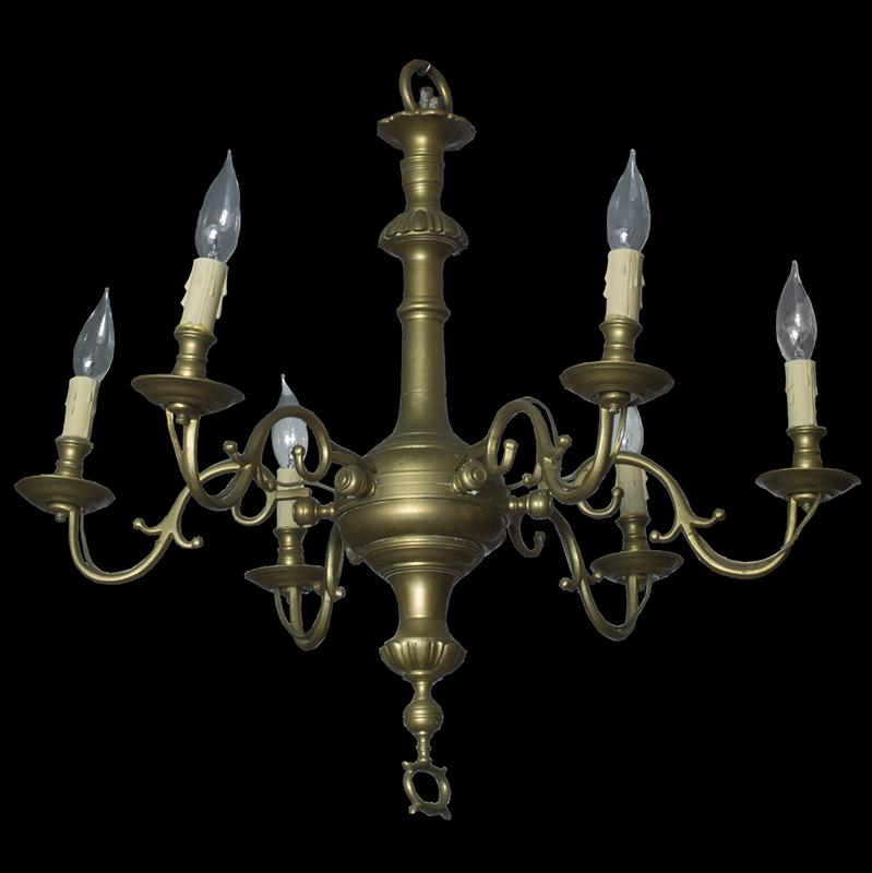 Chandelier Brass England 18th Century